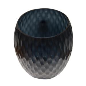 florero negro de vidrio 665-3