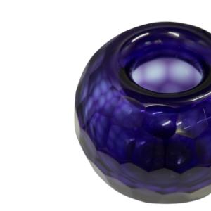florero de vidrio azul 658 - 2