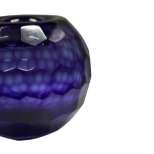 florero de vidrio azul 658 - 3