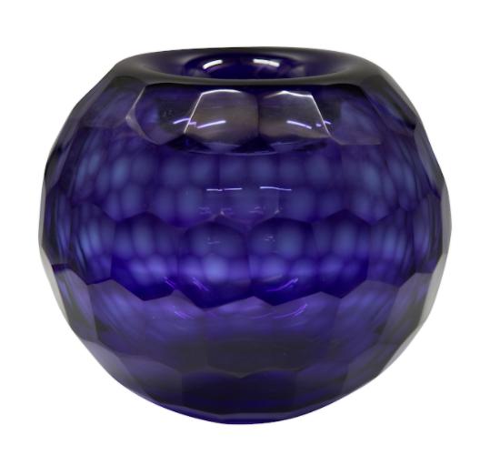 florero de vidrio azul 658 - 1