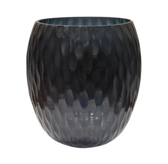 florero negro de vidrio 665-1