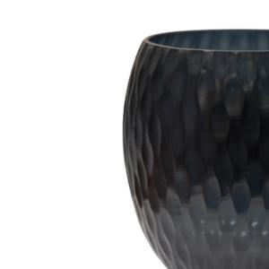 florero negro de vidrio 665-2